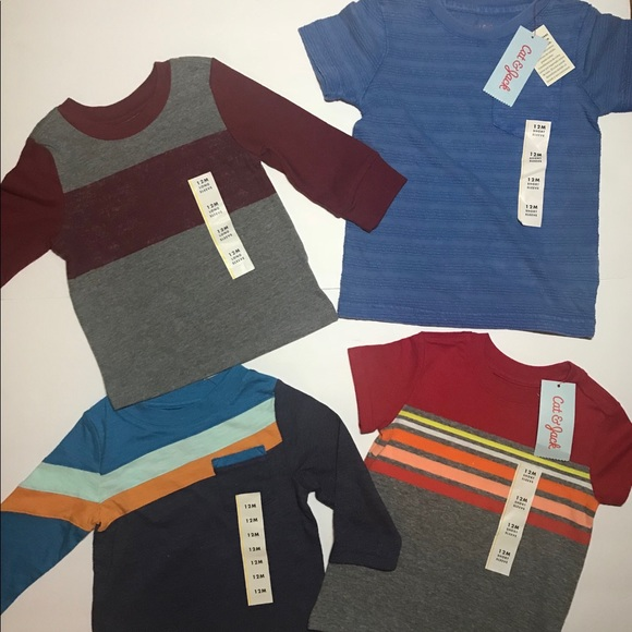 Cat /& Jack White//Black//Red 3 pack Small 6//7 NWT Boys/' Short Sleeve T-Shirt